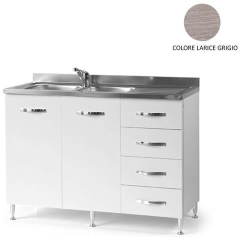 ARGONAUTA - Sottolavello Da Cucina Con Cassettiera Dx Larice Grigio ...