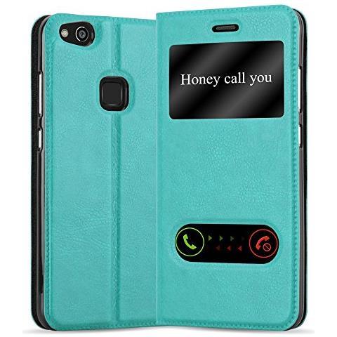 Cadorabo Custodia Libro Per Huawei P10 Lite In Turchese Menta - Con Funzione Stand E Chiusura Magnetica - Portafoglio Cover Case Wallet Book Etui ...
