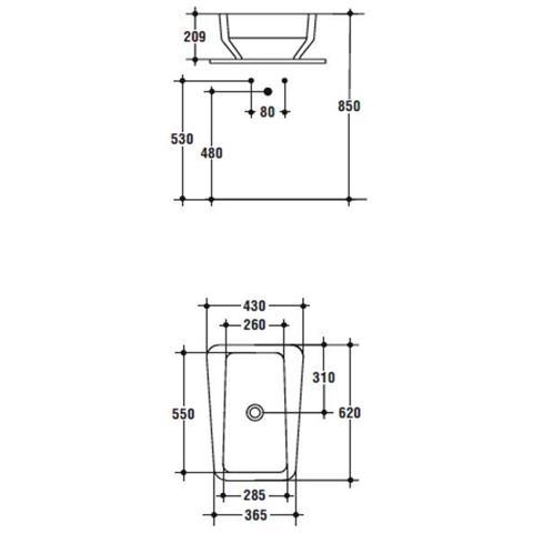 Altezza Standard Lavandino Bagno.Ideal Standard Imagine Lavabo Appoggio Cm 61x43x21 Di Altezza T093801 Eprice
