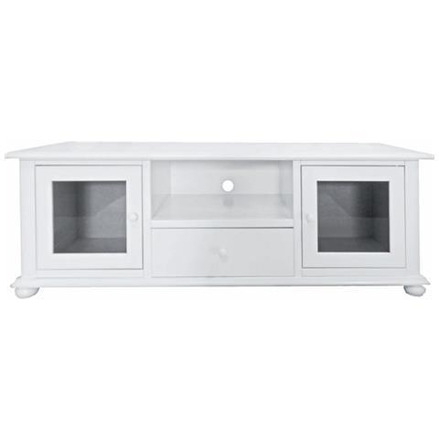 Credenza Mobile Porta Tv.Estea Mobili Porta Tv Credenza Bassa Legno Colore Bianco Eprice