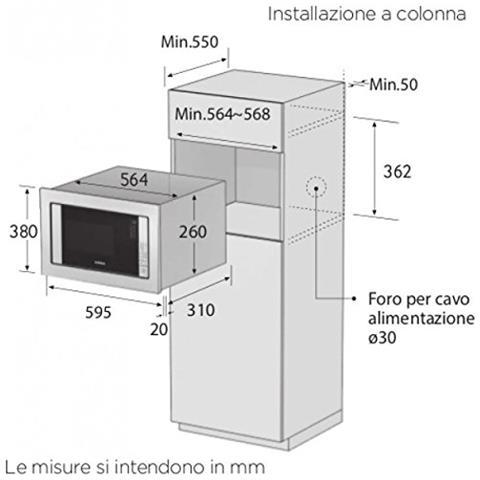 SAMSUNG 301539862 - Forni Microonde da incasso - GZ Shop