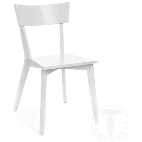 Sedia Bianca Legno.Tomasucci Sedia In Legno Massello Kyra Set Da 2 Bianco