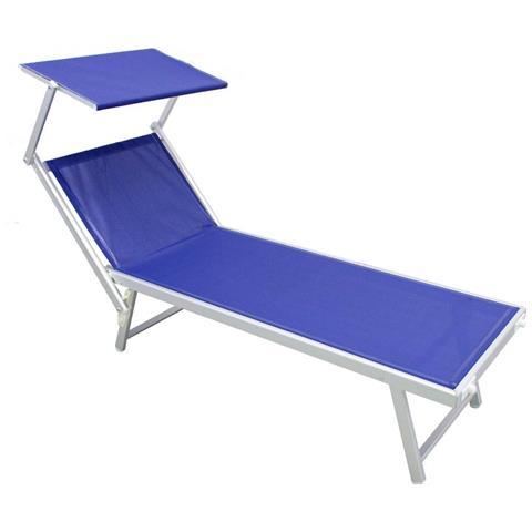 Lettini E Sdraio Mare.Milanihome Lettino Da Campeggio Sdraio Blu Con Tettuccio Spiaggia