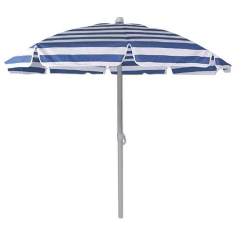 Ombrelloni Da Spiaggia Vendita.Homegarden Ombrellone Da Spiaggia Diametro Cm 180 Blu E Bianco Con