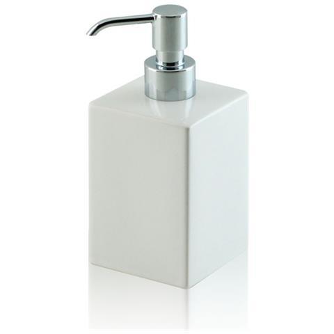 Accessori Bagno Classici Cromati.Bottiglioni Dispenser Dosatore Di Sapone Quadrato Da Appoggio In