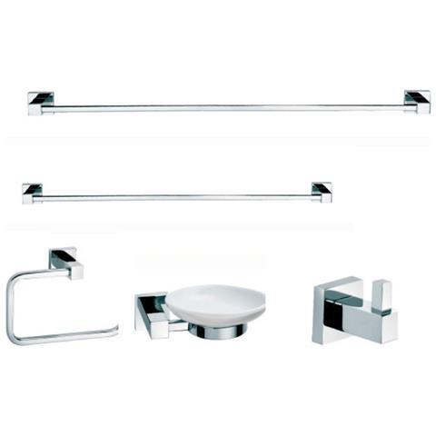 Serie Completa Accessori Bagno.Bath System Accessori Bagno Kit 5 Pezzi Serie Atena
