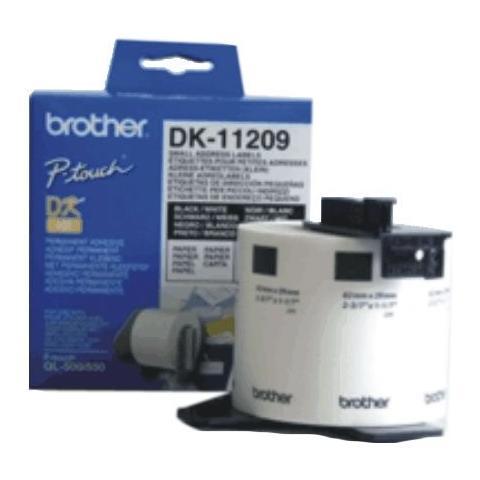 Brother etichette per DK11209 compatibili 29mm*62mm 800pz con supporto