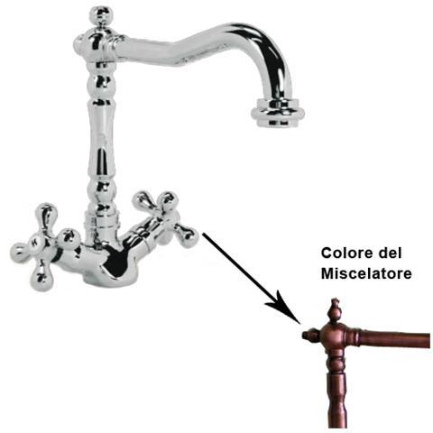 HOMEGARDEN - Miscelatore rubinetto da cucina finitura rame antico ...