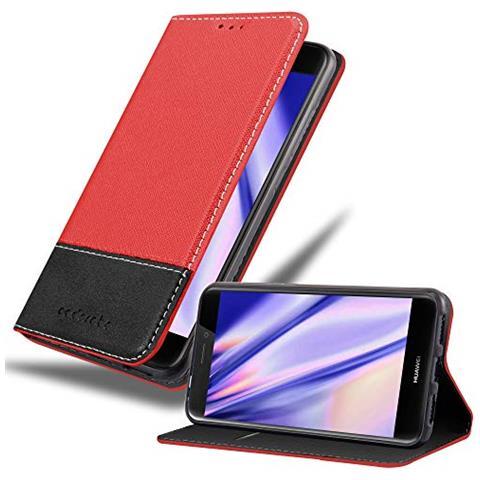 Cadorabo Custodia Libro Per Huawei P8 Lite 2017 In Rosso Nero - Con Vani Di Carte, Funzione Stand E Chiusura Magnetica - Portafoglio Cover Case Wallet ...