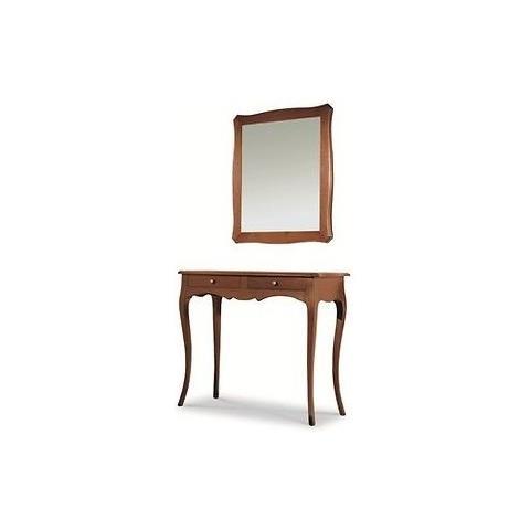 Tavoli A Consolle Arte Povera.Estea Mobili Mobile Tavolo Consolle In Legno Con Specchiera Arte