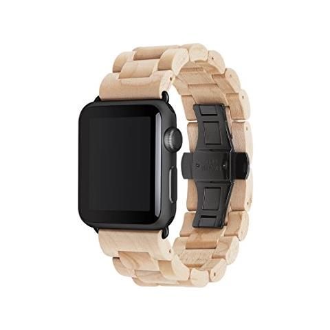 woodcessories 42mm  WOODCESSORIES - EcoStrap Apple Watch nastro 42mm, acero nero - ePRICE