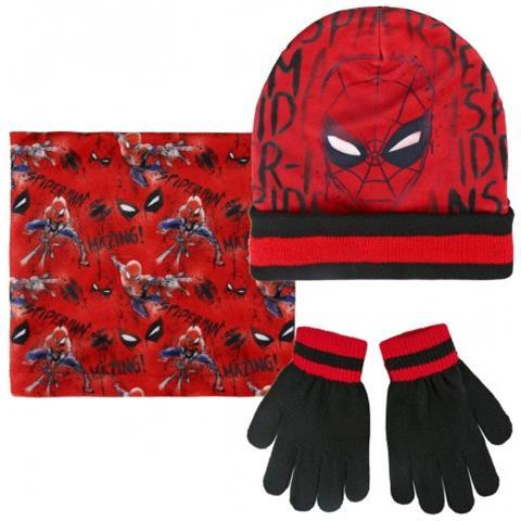 Spiderman Completo 3 Pz Per Bambini Inverno 2200002542 Cappello Guanti  Pashmina b27c0c78cc0b