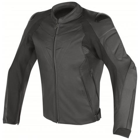 cheaper 1337a 92a62 DAINESE Fighter Leather Perforated Jacket Giacca Moto Pelle Taglia 52