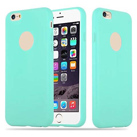 Cadorabo Custodia Per Apple Iphone 6 Plus / iphone 6s Plus In Candy Blu - Morbida Cover Protettiva Sottile Di Silicone Tpu Con Bordo Protezione - ...