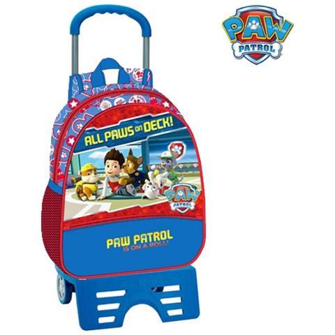 b9ce8aaf46 TrAdE shop Traesio® - Zaino Trolley 33 Cm Con Carrello Zainetto Scuola  Asilo Elementare Paw Patrol - ePRICE