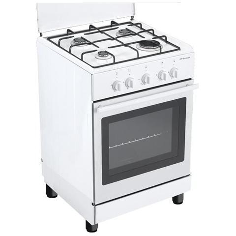 BOMPANI - Cucina Elettrica BO740WG / N 4 Fuohi Gas Forno Elettrico ...
