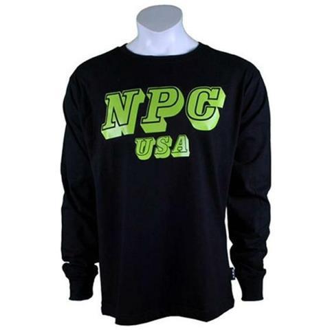 new concept 753be 166a7 Npc Wear Npc T-shirt Uomo In Cotone (manica Lunga Top) Nero / Neon - M