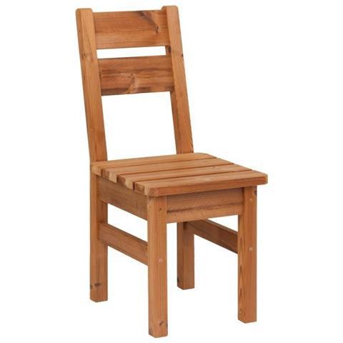 Sedie In Legno Massiccio.Prowood Sedia Da Giardino Zk2 In Legno Massiccio Thermowood