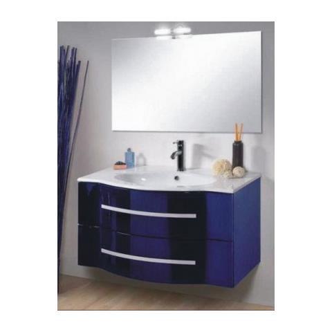 Bagno Italia Mobile Arredo Bagno 90cm Blu Sospeso Con Cassetti Lavabo Specchio Applique Eprice