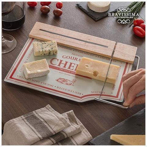 Bravissima Kitchen Tagliere Da Cucina Con Lama Per Formaggi V0200569