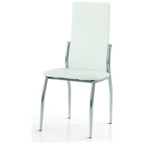 Estea Mobili - Sedia Moderna Eco Pelle Bianca - ePRICE