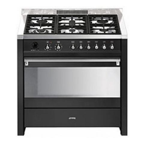 SMEG - Cucina Elettrica CS19A-78 6 Fuochi a Gas Forno Elettrico ...