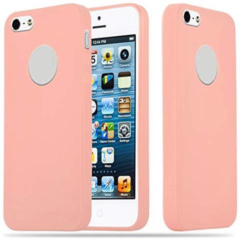 Cadorabo Custodia Per Apple Iphone 5 / Iphone 5s / Iphone Se In Candy Rosa - Morbida Cover Protettiva Sottile Di Silicone Tpu Con Bordo Protezione - ...