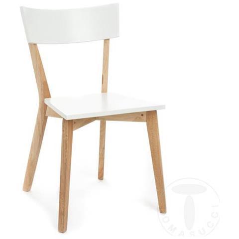 TOMASUCCI Sedia in legno massello Kyra - set da 2