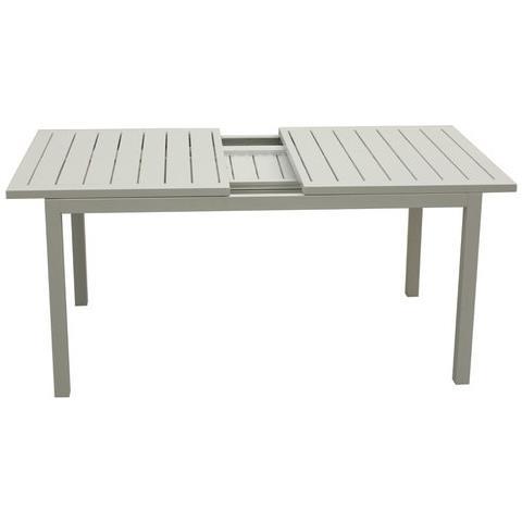 Tavoli Allungabili In Alluminio.Amicasa Tavolo Allungabile Orion In Alluminio Con Piano A Doghe