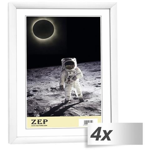 Cornice Portafoto in Plastica 10 x 15 cm Colore Bianco 4 pz