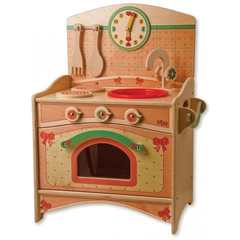 Cucine Giocattolo In Legno Usate.Dida Cucina Giocattolo Per Bambini In Legno Il Trio Lavello