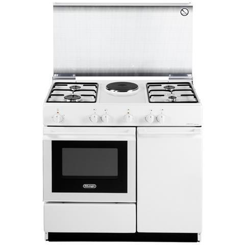 De longhi cucina gas con forno elettrico sew 8541 n 4 fuochi acciaio inox colore bianco eprice - Eprice cucine a gas ...