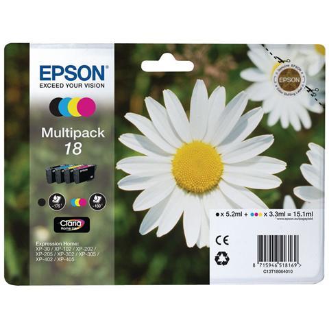 EPSON - CONSUMER INK (S1) CLARIA HOME INK MULPK BK/TRI CO 4 COLOUR 18