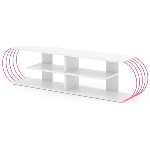 Tubo Porta Tv.Home Mania Mobile Porta Tv Case Color Bianco Rosa Eprice
