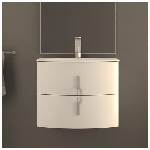Arredo Bagno Moderno Bianco.Bagno Italia Arredo Bagno Da 69 Cm Mobile Moderno Sospeso Moderno Bianco Arrotondato Mobili Lavabo Cristallo Eprice
