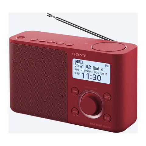 Radio Portatile Dab / Dab+ Colore Rosso