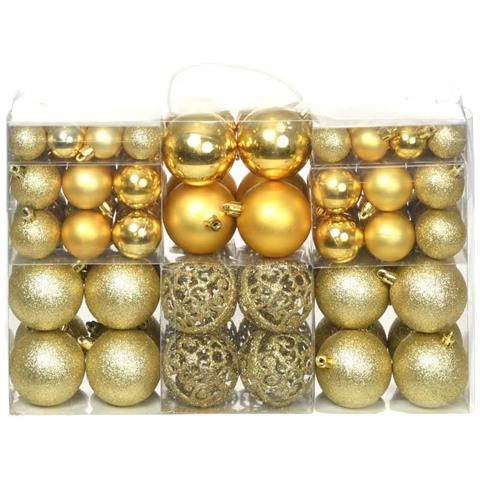 Immagini Palline Natalizie.Vidaxl Set Palline Di Natale 100 Pz 6 Cm Oro Eprice