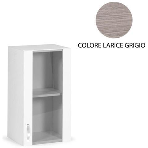 ARGONAUTA - Pensile Per Cucina 1 Anta Vetrina Colore Larice Grigio ...