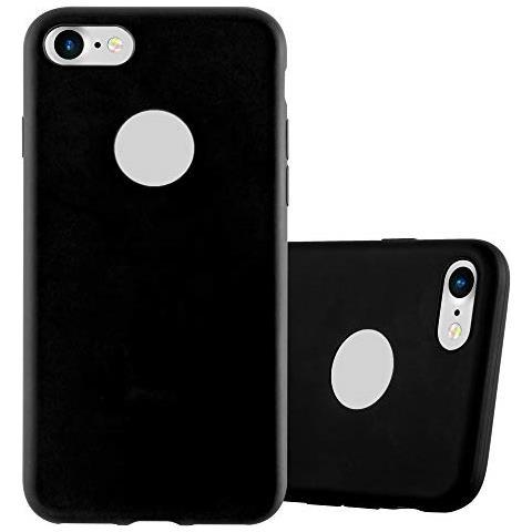 Cadorabo Custodia Per Apple Iphone 7 / Iphone 7s / Iphone 8 In Candy Nero - Morbida Cover Protettiva Sottile Di Silicone Tpu Con Bordo Protezione - ...
