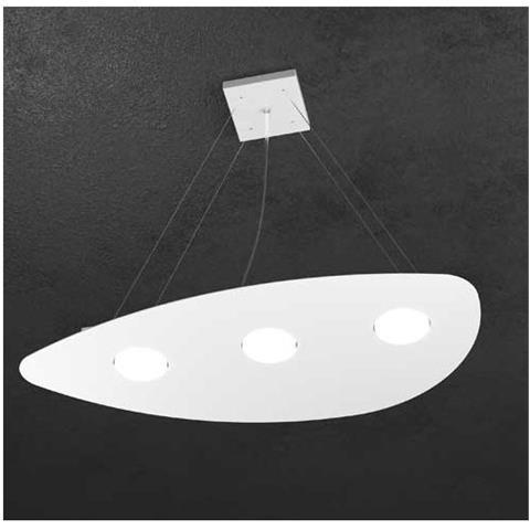 TOP LIGHT Sospensione Moderna Led Lampadario Per Camere Da Letto Grigio, L  60x38 Cm H Min 50cm Max 100cm