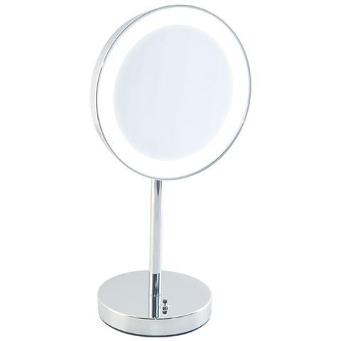Specchio Bagno Con Lampada.Bottiglioni Specchio Ingranditore Da Bagno Con Luce Led Batteria