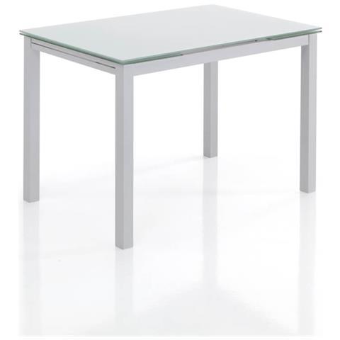 Tavolo Cristallo Allungabile Usato.Tomasucci Tavolo Allungabile In Metallo Con Piano In Vetro