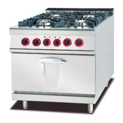 Ristochefpro Cucina A Gas Professionale 4 Fuochi Con Forno Elettrico 80x90x94h Ristorante Bar Eprice