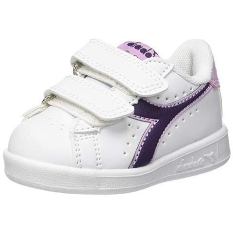DIADORA - Game P Td Sneakers Scarpe Pelle Primi Passi Bimba Bianco ... 94340e4cc2e