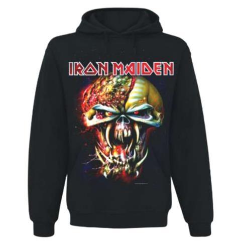 Iron Maiden - Final Frontier Big Head (Felpa Con Cappuccio Unisex Tg. S)