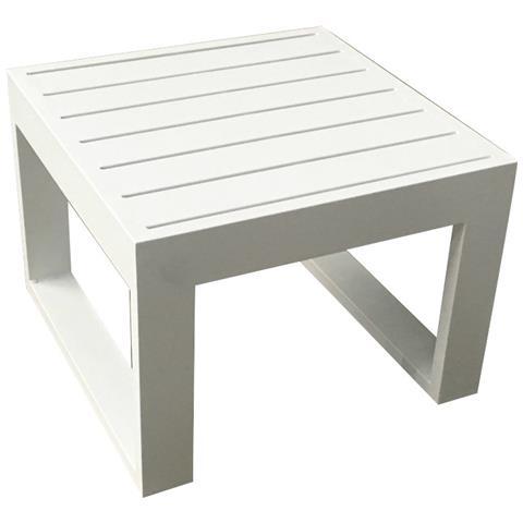 MilaniHome - Tavolino Salotto Giardino Quadrato Fisso 45 X 45 Bianco ...