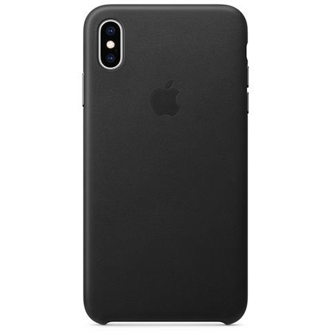 APPLE Cover Posteriore in Pelle per IPhone XS Max Colore Nero