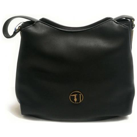 687d5be112 TRUSSARDI JEANS - Borsa Donna Rabarbaro Hobo Bag Ecoleather Black  75b004299y099999. k299 - ePRICE