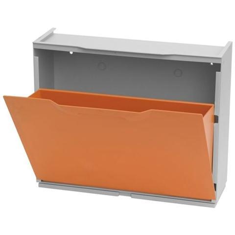 Scarpiere Componibili In Plastica.Eac Scarpiera Modulare Impilabile Mod Unika Colore Arancio In