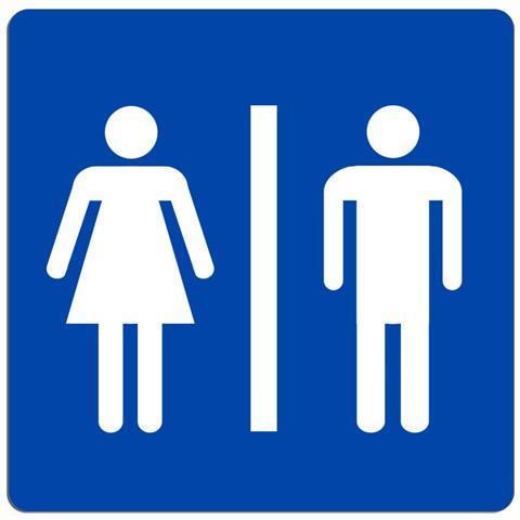Takestop - Cartello Uomo Donna Segnaletica Wc Toilette Bagno Targa ...